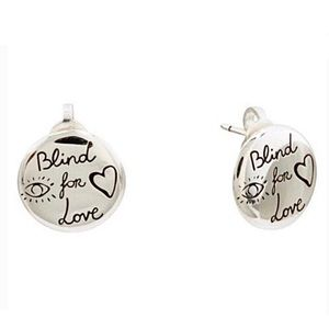 New GUCCI Blind For Love Sterling Stud Earrings